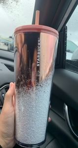 Starbucks 2019 Holiday Rose Gold Tumbler 24oz